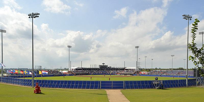 Het stadion in Hoofddorp tijdens het Europees kampioenschap.