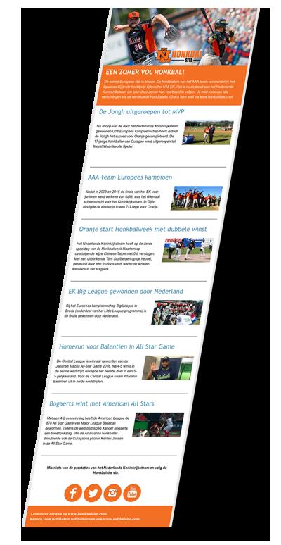 honkbalsite_nieuwsbrief