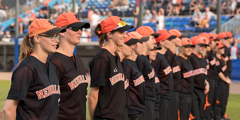 De Nederlandse selectie werd vorige maand gepresenteerd tijdens de Honkbal Week Haarlem.