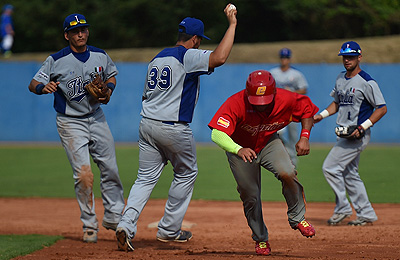 Spanje versloeg op de eerste dag van de Italian Baseball Week gastheer Italië.