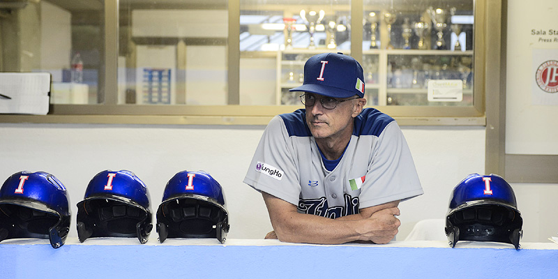 De Italiaanse bondscoach Marco Mazzieri.