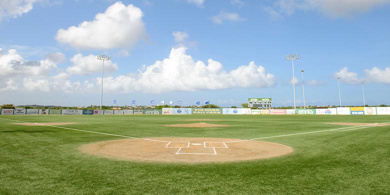 Het Tio Dauo Ballpark op Curaçao.