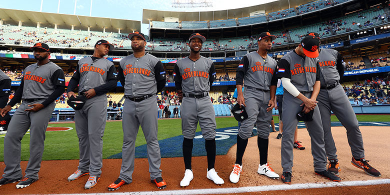 De honkballers van Oranje werden echte publiekslievelingen.