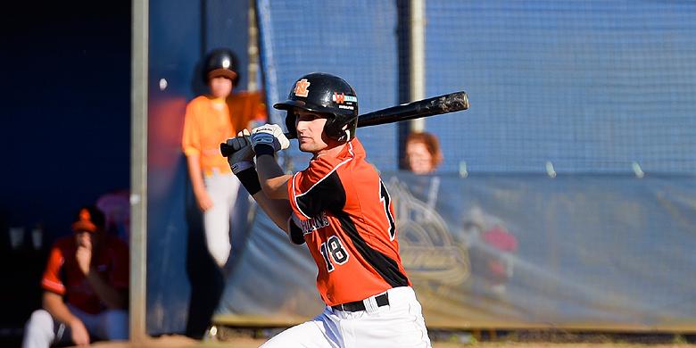 Stijn van der Meer sloeg twee van de tien hits voor Oranje.