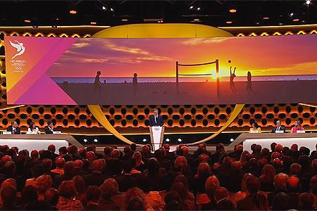 Presentatie van Los Angeles als gastheer in 2028.