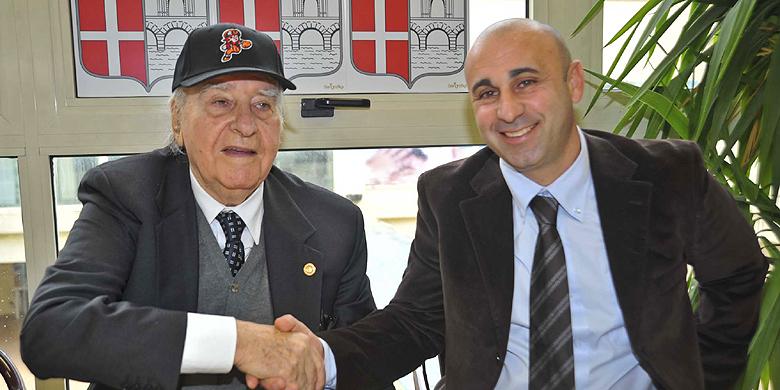 Simone Pillisio (rechts) volgde als voorzitter bij Rimini Rino Zangheri (links) op.