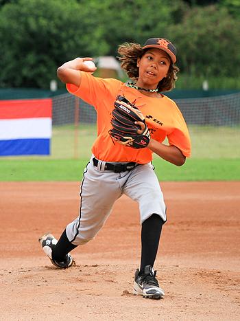 Startend pitcher Sol Fahrner.