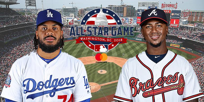 Kenley Jansen (Los Angeles Dodgers) en Ozzie Albies (Atlanta Braves) zijn geselecteerd voor de All Star Game op dinsdag 17 juli.
