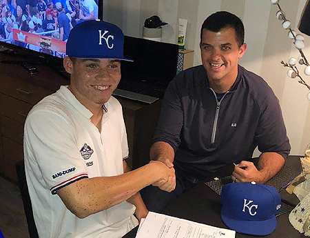 Darryl Collins met Kansas City Royals scout Nick Leto.