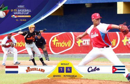 Koninkrijksteam U15 verliest openingsduel WK nipt van Cuba