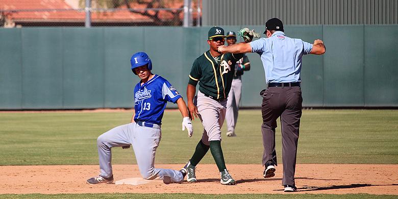 Italië speelde twee wedstrijden tegen Oakland Athletics.