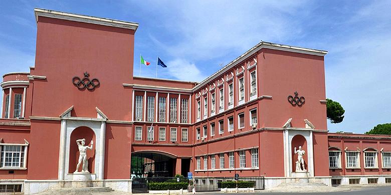 Het hoofdkantoor van het CONI in Rome.