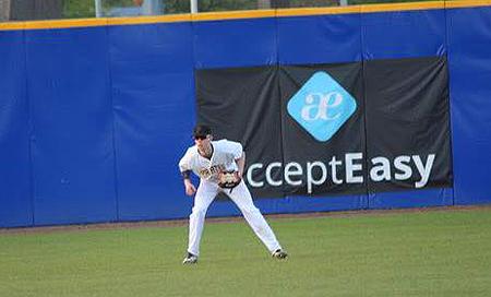 Kit Gijsbers is inzetbaar als buitenvelder en pitcher.
