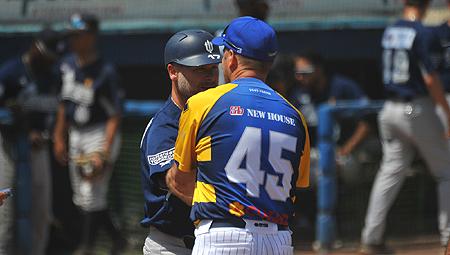 De coaches van Neptunus en Parma.