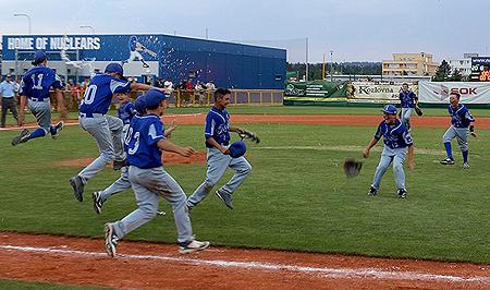 De Italiaanse honkballers werden voor de derde keer op rij Europees kampioen.
