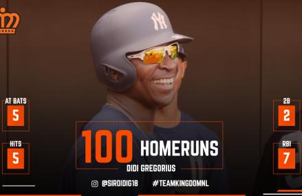 MLB Update: 100 homeruns voor Didi Gregorius