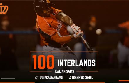 Kalian Sams speelt 100ste interland