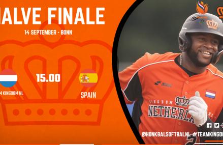 Halve finale EK: Koninkrijksteam – Spanje