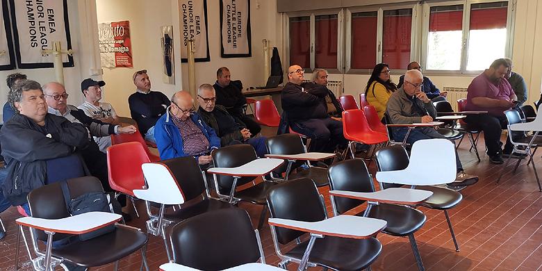 De vertegenwoordigers van de clubs uit de Serie A1 kwamen in Bologna bijeen.