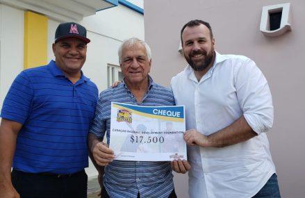 KNBSB overhandigt cheque aan CBDF