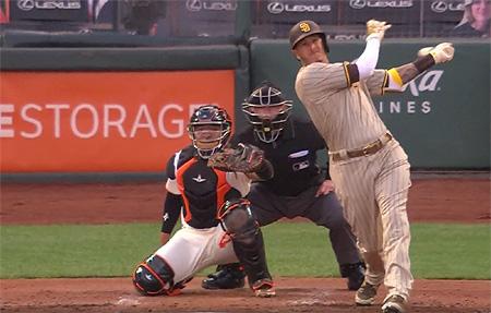Chadwick Tromp speelde het hele duel als catcher.