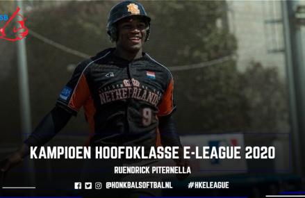 Ruendrick Piternella (Twins Oosterhout) wint eerste editie Hoofdklasse e-League!