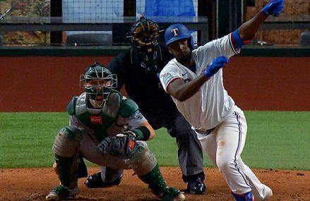 Sherten Apostel maakt debuut voor Texas Rangers