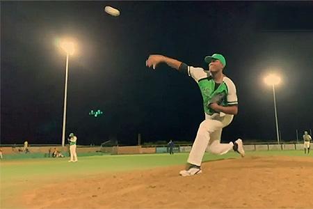 Startend pitcher Jordan Lucas (Sta Rosa Indians).