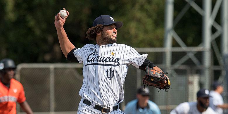 Orlano Yntema won dit seizoen als pitcher de meeste wedstrijden.