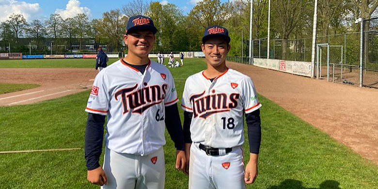 Taisei Nakamura (links) en Shunta Oba (rechts)